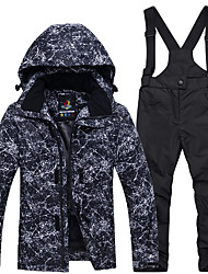 cheap -ARCTIC QUEEN Boys' Girls' Ski Jacket with Pants Skiing Camping / Hiking Snowboarding Windproof Warm Breathability POLY Eco-friendly Polyester Tracksuit Bib Pants Top Ski Wear / Kids