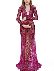 cheap -Women's Maternity Daily Elegant Maxi Sheath Dress - Solid Colored Wine White Purple S M L XL