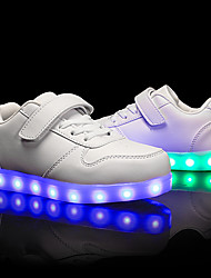 cheap -Boys' Girls' Sneakers LED LED Shoes USB Charging PU Little Kids(4-7ys) Big Kids(7years +) Athletic Walking Shoes LED Luminous White Black Red Fall Spring