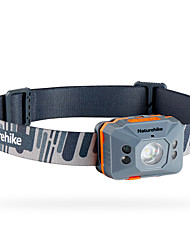 cheap -Naturehike NH17G025-D Headlamps Waterproof 140 lm LED LED Emitters 4 Mode with Battery and USB Cable Waterproof Portable Durable Camping / Hiking / Caving Everyday Use Cycling / Bike Grey Yellow