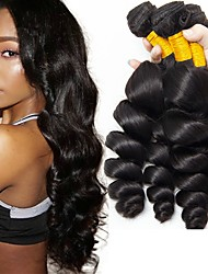 cheap -3 Bundles Peruvian Hair Loose Wave Human Hair Unprocessed Human Hair 300 g Natural Color Hair Weaves / Hair Bulk Hair Care Hair Accessory 8-28 inch Black Natural Color Human Hair Weaves Extender