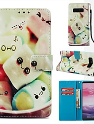 cheap -Case For Samsung Galaxy Note 8 Wallet / Card Holder / Flip Full Body Cases Food Hard PU Leather