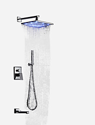 cheap -Shower Faucet - Contemporary / Art Deco / Retro / Modern Chrome Wall Mounted Brass Valve Bath Shower Mixer Taps / Single Handle Two Holes
