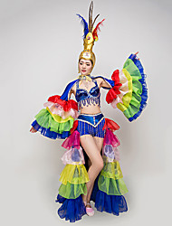 cheap -Elf Carnival Fairy Costume Adults' Women's Sequins Flamenco Halloween Carnival Masquerade Festival / Holiday Sequin Polyster Blue Women's Carnival Costumes / Headwear