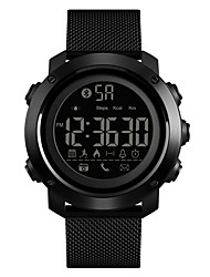 cheap -SKMEI Men's Sport Watch Military Watch Digital Watch Digital Stainless Steel Black 50 m Water Resistant / Waterproof Bluetooth Alarm Digital Luxury Fashion - Black One Year Battery Life / Chronograph