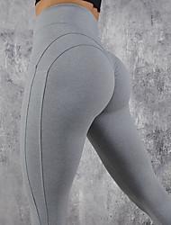 abordables -Femme Taille Haute Mosaïque Pantalon de yoga Couleur unie Elasthanne Zumba Fitness Entraînement de gym Collants Tenues de Sport Butt Lift Contrôle du Ventre Power Flex Haute élasticité Mince