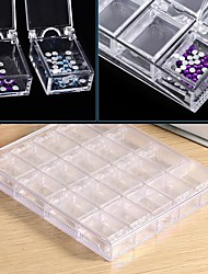 cheap -1pc Plastics Eco-friendly Material Nail Art Accessories Multi Function Fashion Daily Nail Art Storage Box for