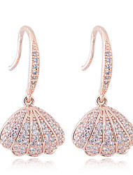 cheap -Earrings Cubic Zirconia Copper For Women's Sector Elegant Sweet Fashion Party Gift High Quality Classic Shell 1 Pair / S925 Sterling Silver