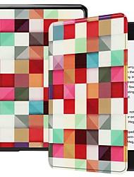 Недорогие -Кейс для Назначение Amazon Kindle Lite (2019) / Kindle PaperWhite 4 Защита от удара / со стендом / Ультратонкий Чехол Геометрический рисунок Твердый Кожа PU для Kindle Lite (2019) / Kindle PaperWhite