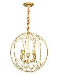 cheap -ZHISHU 6-Light 48 cm New Design Pendant Light Metal Circle Painted Finishes Retro / Globe 110-120V / 220-240V