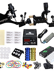 cheap -Tattoo Machine Professional Tattoo Kit 2 rotary machine liner & shader High Quality 8 x disposable grip 2 x alloy grip 50 Classic Daily