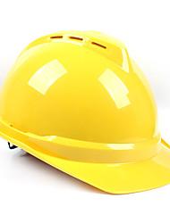 Недорогие -защитный шлем для безопасности на рабочем месте дышащий абс 0,5 кг желтый синий красный шлем