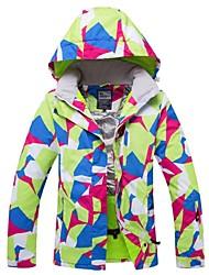 cheap -Women's Ski Jacket Winter Sports Windproof Rain Waterproof Warm Polyester Nylon Winter Jacket Top Ski Wear