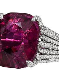 Недорогие -Жен. Кольцо кольцо для большого пальца Синтетический рубин 1шт Лиловый Медь Дамы Мода Каждый день Для вечеринок Бижутерия Классический Пасьянс Сияющий срез Cool