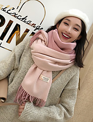 cheap -Sleeveless Shawls / Scarves Imitation Cashmere Wedding / Party / Evening Women's Scarves With Plaid / Color Block