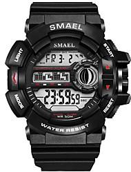 cheap -Men's Sport Watch Digital Watch Digital Rubber Black / Orange / Khaki Water Resistant / Waterproof Shock Resistant Noctilucent Digital Casual Fashion - Khaki Black / White Black / Blue / Large Dial