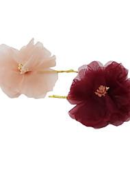 Недорогие -Ткань Зажим для волос с Цветы 3 предмета Свадьба / Вечеринка / ужин Заставка