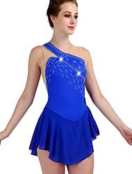 cheap -Dance Costumes Rhinestone Bodysuit / Ice Skating Women's / Girls' Training Chinlon / Tulle Crystals / Rhinestones Sleeveless High Dress