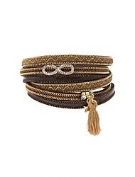 Недорогие -Жен. Кожаные браслеты маскарадный Мода Английский Кожа Браслет Ювелирные изделия Коричневый Назначение Подарок Повседневные
