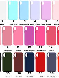 Недорогие -Кейс для Назначение Apple iPhone XS / iPhone XR / iPhone XS Max Матовое Кейс на заднюю панель Однотонный Мягкий ТПУ