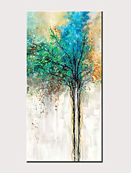 cheap -Oil Painting Hand Painted - Abstract Floral / Botanical Classic Modern Rolled Canvas (No Frame)