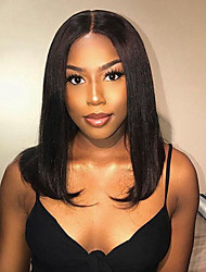 cheap -Short Human Hair Bob Wigs With Baby Hair Brazilian Remy Hair Pre Plucked Lace Front Human Hair Wigs For Women