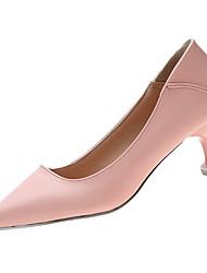 cheap -Women's Heels Kitten Heel Pointed Toe PU Minimalism Spring &  Fall Black / Pink / Beige / Daily