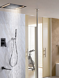cheap -Shower Faucet Set - Rain Shower Contemporary Painted Finishes Wall Mounted Ceramic Valve Bath Shower Mixer Taps / Brass