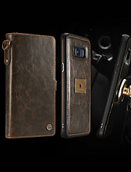 cheap -CaseMe Retro Leather Zipper Purse Case For Samsung Galaxy S20 Ultra S10 S10e S9Plus S8 Plus Caseme Brand Qin Series Luxury Wallet Card Holder / Shockproof Full Body Cases Solid Colored Hard PU Leather