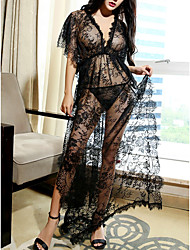 cheap -Women's Lace Super Sexy Chemises & Gowns Nightwear Solid Colored Black One-Size