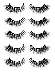 cheap -Eyelash Extensions 10 pcs Natural Best Quality 3D Lightweight Soft Beauty Animal wool eyelash Christmas Gifts Party Halloween Full Strip Lashes Crisscross Thick - Makeup Daily Makeup Sexy Modern