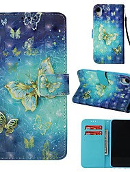 cheap -Case For Apple iPhone XR Wallet / Card Holder / Flip Full Body Cases Butterfly Hard PU Leather