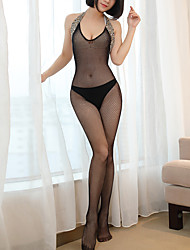 cheap -Women's Super Sexy Suits Nightwear - Backless Leopard Black One-Size / Strap