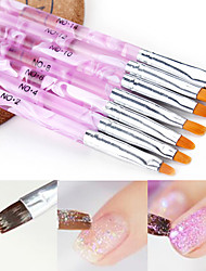 cheap -7pcs Eco-friendly Material Nail Art Tool Nail Painting Tools For Multi Function / Best Quality Romantic Series nail art Manicure Pedicure Fashion Daily