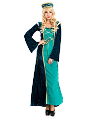 cheap -Princess Victorian Medieval Renaissance 18th Century Wasp-Waisted Dress Hat Women's Lace Costume Hat Green / Black Vintage Cosplay Long Sleeve Long Length