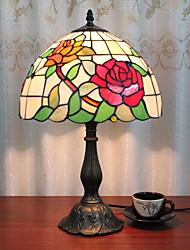 Недорогие -12-дюймовый настольный светильник роза художественный Тиффани окружающие лампы декоративные прекрасный настольная лампа для спальни в помещении смолы 110-120 В 220-240 В 40 Вт * 1