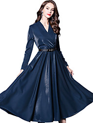 cheap -Victorian Medieval Renaissance 18th Century Wasp-Waisted Dress Women's Costume Black / Red / Blue Vintage Cosplay Long Sleeve Long Length