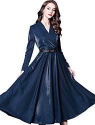 abordables -Victoriens Epoque Médiévale Renaissance 18ème siècle Taille de guêpe Robe Femme Costume Noir / Rouge / Bleu Vintage Cosplay Manches Longues Long