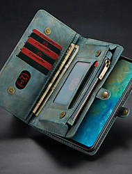 cheap -CaseMe Leather Protective Wallet with Removable Magnetic Closure Cell Phone Cover Many Compartments 11 Card Pockets Zippered Coin Pocket for Huawei Mate 20 Phone Case