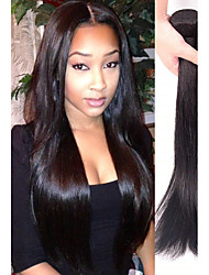 cheap -4 Bundles Straight Remy Human Hair Human Hair Natural Color Hair Weaves / Hair Bulk Bundle Hair One Pack Solution 8-28 inch Natural Color Human Hair Weaves Soft Easy dressing Sexy Lady Human Hair