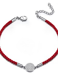 cheap -Mixed Color Loom Bracelet - Rhinestone, 18K White Gold Plated Lucky Traditional / Vintage, Good Luck, New Year's Red For Daily Festival Women's