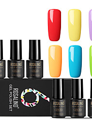 cheap -ROSALIND Gel Polish Set 7 ml 6 pcs Trendy / Glamour Soak off Long Lasting  Engagement / Date / Professional Trendy / Glamour
