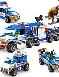 cheap -Building Blocks Military Blocks Vehicle Playset 4 pcs compatible Legoing Hand-made Parent-Child Interaction Police car All Boys' Girls' Toy Gift / Kid's / Educational Toy