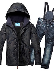 cheap -RIVIYELE Men's Ski Jacket with Pants Skiing Winter Sports Waterproof Lightweight Windproof Cotton Chinlon Clothing Suit Ski Wear / Warm