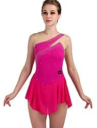 cheap -Figure Skating Rhinestone Bodysuit / Ice Skating Women's / Girls' Training Chinlon / Tulle Crystals / Rhinestones Sleeveless High Dress