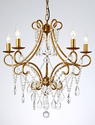 cheap -JLYLITE 5-Light 61 cm Crystal Chandelier Metal Crystal Painted Finishes Artistic / Traditional / Classic 110-120V / 220-240V