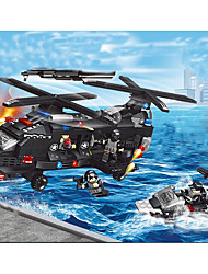 cheap -Building Blocks Construction Set Toys Educational Toy 200-400 pcs Military Tank Fighter Aircraft compatible Legoing Simulation Military Vehicle Police car Tank All Boys' Girls' Toy Gift