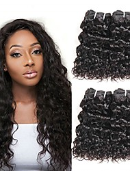 cheap -6 Bundles Brazilian Hair Water Wave Human Hair Unprocessed Human Hair Headpiece Natural Color Hair Weaves / Hair Bulk Hair Care 8-28 inch Natural Color Human Hair Weaves Dancing Best Quality New