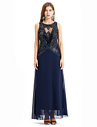 cheap -The Great Gatsby Charleston Vintage 1920s Flapper Dress Dress Women's Sequin Costume Blue / Beige Vintage Cosplay Party Prom Sleeveless Long Length
