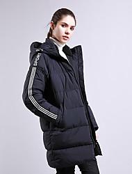 cheap -Women's Padded Hiking jacket Winter Outdoor Windproof UV Resistant Breathable Rain Waterproof Down Jacket Top Single Slider Outdoor Exercise Black / Dark Blue